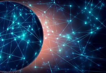 global blue light dark network