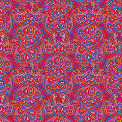 Seamless color paisley pattern