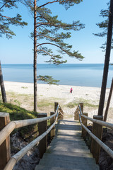 Fototapete - Baltic coast, gulf of Riga, Latvia.
