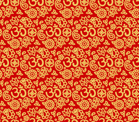 OM seamless pattern