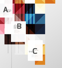 Modern geometrical square banner, minimalistic abstract background