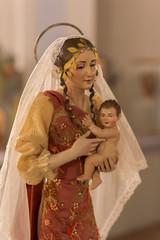 Presepe artistico, Madonna con bambino