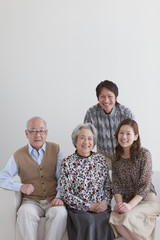 Senior Couple and Adult Daughter and Son