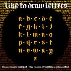 Blackletter Calligraphy Font, New odern gothic alphabet font. Medival Alphabet