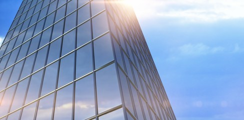 Composite image of composite image of office building