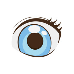 anime eyes style comic vector illustration eps 10