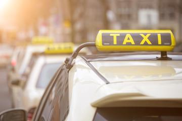 german taxi signs Fototapete