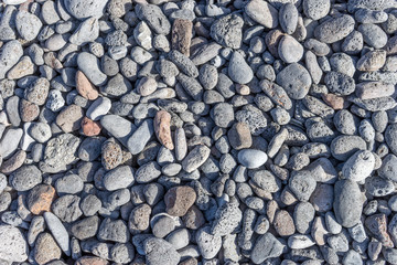 pebbles / Area with pebbles made of lava