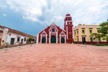 Fototapete - San Francisco Church in Mompox, Colombia