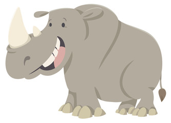 rhino cartoon animal character