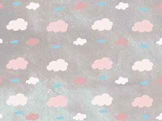 Fondo de patrón de nubes de colores
