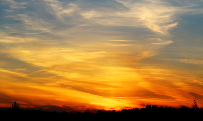 Photo of a beautiful beautiful sunset