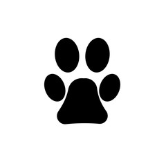 Paw of beautiful pet, vector icon
