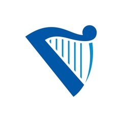 harp logo vector.