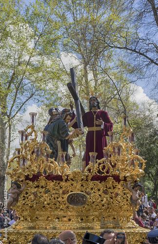 Semana Santa De Sevilla Hermandad De La Paz Stock Photo And