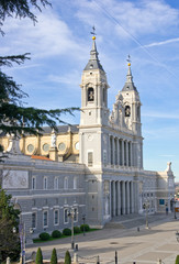Santa Maria la Real de La Almudena cathedral in Madrid, Spain