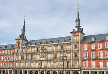 Bakery house (Casa de la Panaderia) on Plaza Mayor in Madrid, Spain