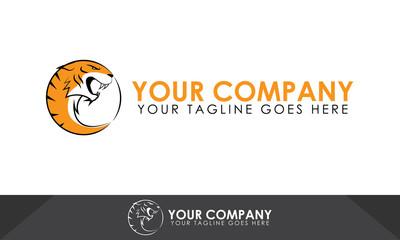 Tiger logo, tiger illustration, tiger vector template
