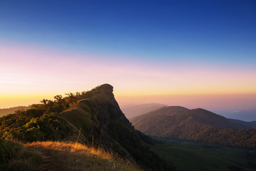 Beautiful sunrise at Mon Jong National park ,Chiang Mai ,Thailand