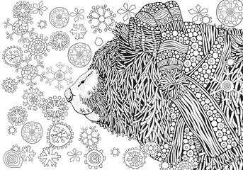 Cute Winter Bear in knitted hat