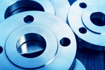 Industrial metal flanges