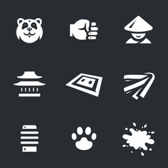 Vector Set of Karate Icons.