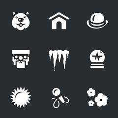 Vector Set of Groundhog day Icons.