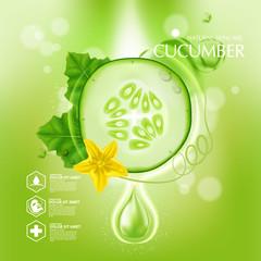 Cucumber Natural Moisture Skin Care Cosmetic.