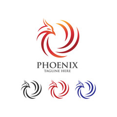 luxury phoenix abstract consulting element logo icon concept