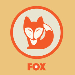 Fox vector icon. Fox design. Fox flat.
