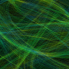 Business square abstract background with mess of chaotic lines like