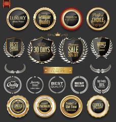 Luxury  golden design elements collection