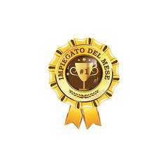 Impiegato del mese - elegante nastro di premio aziendale. colori di stampa