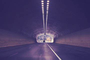 Keuken foto achterwand Tunnel Tunnel on interstate highway 70, color toned picture, Colorado, USA.