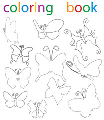 book coloring cartoon butterfly collection