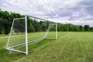 football goals on field