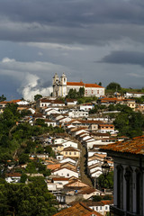 A view over the city of Ouro Preto, Brazil.