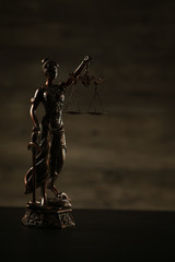 Law and Juystice theme, mallet of the judge, goddess of justice
