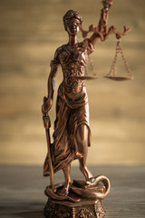 Goddess of justice. Law concept