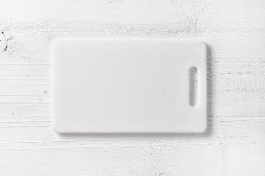 white plastic cutting board