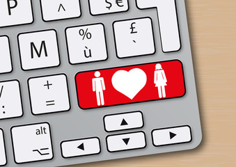 Amour - cœur - couple - sexe - en ligne - site de rencontre