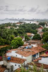 View over the old town of Olinda from Praca do Se, Olinda, Pernambuco, Brazil.