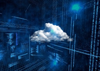 Conceptual image of cloud computing