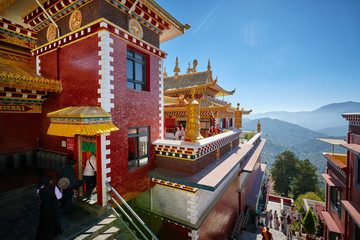 Fotorolgordijn Nepal Thrangu Tashi Yangtse Monastery (Namo Buddha) in Nepal