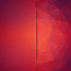 Abstract polygonal vector background. Geometric vector illustration. Creative design template. Abstract vector background for use in design. Red, orange, brown colors.