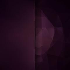 Abstract polygonal vector background. dark brown geometric vector illustration. Creative design template. Abstract vector background for use in design