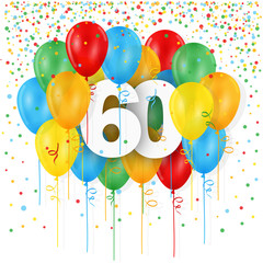 """HAPPY 60th BIRTHDAY / ANNIVERSARY"" Card"