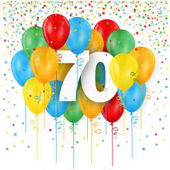 """HAPPY 70th BIRTHDAY / ANNIVERSAIRE"" Card"