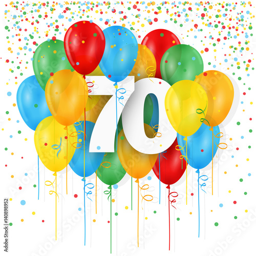 HAPPY 70th BIRTHDAY ANNIVERSAIRE Card