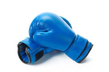 Fototapeta Boxing gloves close up on a white background obraz